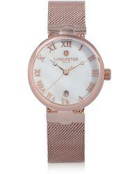 Lancaster Chimaera Armbanduhr aus Edelstahl in rosegold - Pink