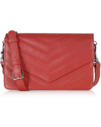 Lancaster Leather Shoulder Bag - Red