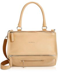 Givenchy - Light Beige Leather Medium Pandora Crossbody Bag - Lyst