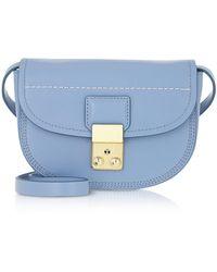 3.1 Phillip Lim Designer Sacs à main, Pashli - Mini Sac à Bandoulière en Cuir - Bleu