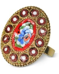 DSquared² - Golden Mosaic Ring - Lyst