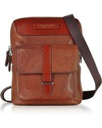 The Bridge - Men's Brown Leather Messenger Bag - Lyst