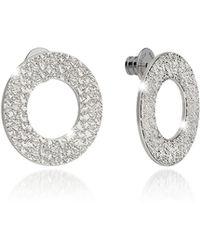 Rebecca - R-zero Rhodium Over Bronze Stud Drop Earrings - Lyst