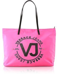 Versace Jeans 6 Dis. 60 Fuchsia Polyester Tote Bag - Pink