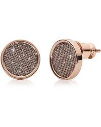 Skagen Merete Rose Tone Stud Earrings - Multicolour