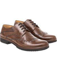 Pakerson Cocoa Cortona Derby Shoes - Brown