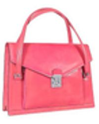 L.A.P.A. Double Gusset Women's Leather Briefcase - Pink
