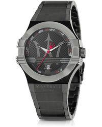 Maserati Potenza Black PVD Stainless Steel Unisex Watch - Schwarz