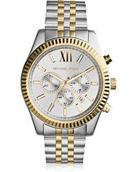 Michael Kors Reloj para Hombres Lexington de Acero Inoxidable Bicolor - Metálico