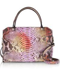 Ghibli - Lilac Python Square Tote Bag - Lyst