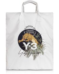 Y-3 - Core White Signature Print Tote Bag - Lyst