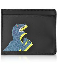 Paul Smith - Black Nylon And Leather Dino Card Holder - Lyst