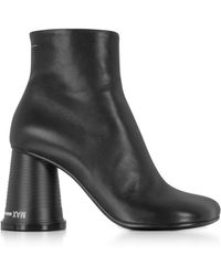 MM6 by Maison Martin Margiela - Black Nappa Leather Boots - Lyst