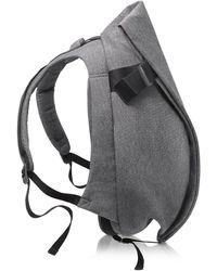 Côte&Ciel Isar Eco Yarn Medium Rucksack in schwarz-grau