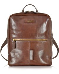 The Bridge - Passpartout Marrone Leather Backpack - Lyst