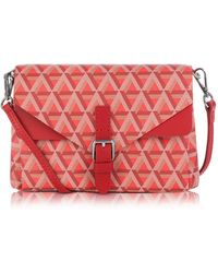 Lancaster Paris - Ikon Coated Canvas And Leather Mini Clutch - Lyst