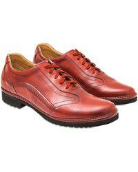 Pakerson Handgefertigte Schnürschuhe aus italienischem Leder in rot