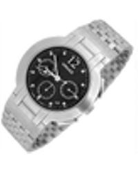 Versace - Madison - Men's Stainless Steel Black Dial Chronograph - Lyst