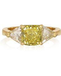 FORZIERI Goldener Ring mit Diamanten - Gelb