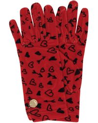 Moschino - Heart Printed Chenille Gloves - Lyst