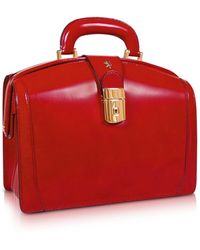 Pratesi Ladies Polished Italian Leather Briefcase - Red