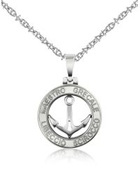 FORZIERI Stainless Steel Anchor Pendant Necklace - Metallic