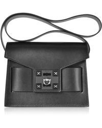 Salar Black Leather Shoulder Bag