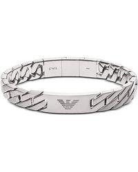 Emporio Armani Heritage Stainless Steel Men's Bracelet - Metallic