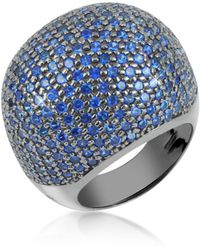 Azhar - Blue Cubic Zirconia Fashion Ring - Lyst
