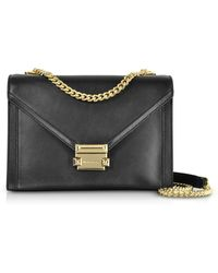 0d01ed7ddbef Lyst - Michael Kors Whitney Large Embellished Convertible Leather ...