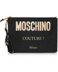 Moschino Couture Logo Clutch - Black
