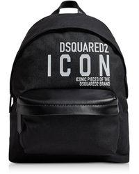 DSquared² New Icon Black Nylon Men's Backpack - Negro