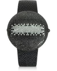 Christian Koban Clou Dinner Armbanduhr mit Diamanten - Schwarz