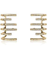 FEDERICA TOSI New Hook Earrings w/Strass - Mettallic