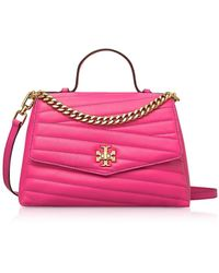 Tory Burch Kira Chevron Top-Handle Satchel Bag - Rosa