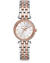 Michael Kors - Petite Darci Two-tone Stainless Steel Bracelet Watch - Lyst