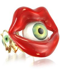 Bernard Delettrez - Bronze Mouth Ring With Eye - Lyst