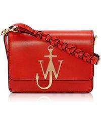 JW Anderson Anchor Logo Bag w/Braided Strap - Rojo