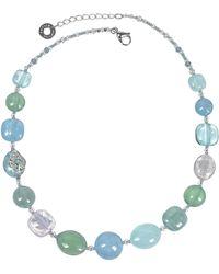 Antica Murrina - Florinda Light Blue And Green Murano Glass Beads Necklace - Lyst