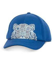 KENZO Kampus Neoprene Tiger Baseball Cap - Blue