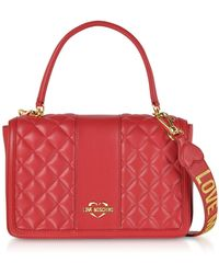 Love Moschino - Quilted Eco Leather Top Handle Bag - Lyst