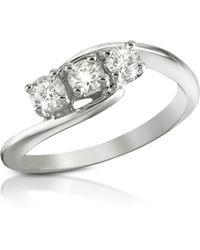 FORZIERI - 0.315 Ct Three-stone Diamond 18k Gold Ring - Lyst