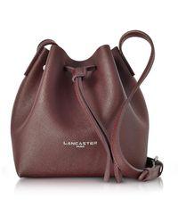 Lancaster Paris - Pur & Element Saffiano Leather Mini Bucket Bag - Lyst