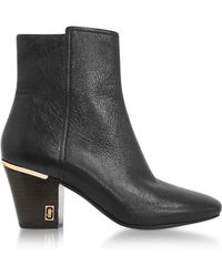 Marc Jacobs - Aria Status Black Leather Ankle Boots - Lyst