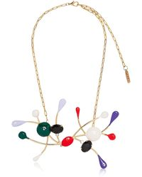 Marni - Gold-plated, Enamel And Crystal Necklace - Lyst