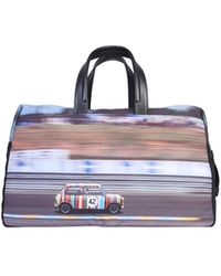 Paul Smith Mini Print Travel Bag - Blue