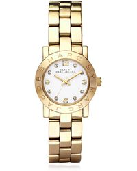 Marc By Marc Jacobs - Mini Amy 26 Mm Gold Tone Stainless Steel Women's Watch - Lyst