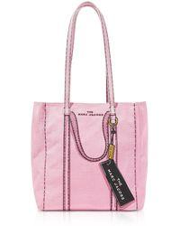 """Marc Jacobs Tote Aus Baumwolle Und Leinen """"the Tag"""" - Pink"""