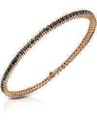 FORZIERI Black Diamond Eternity 18K Gold Tennis Bracelet - Mettallic