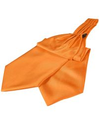 FORZIERI Einfarbiges Seidenascot - Orange